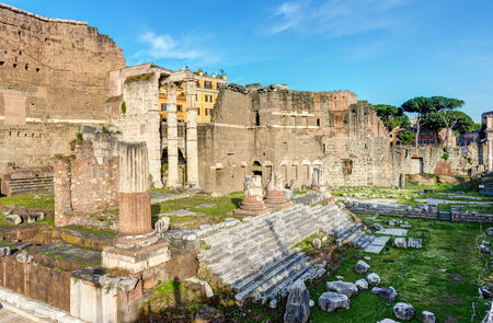 augustus: Forum of Augustus with the temple of Mars Ultor in Rome, Italy