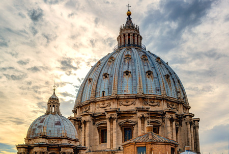 st peter s basilica: Dome of St  Peter s Basilica in Rome