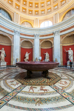 One of the rooms of the Vatican Museum.
