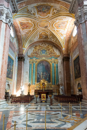 martiri: Interior of the Basilica of St. Mary of the Angels and the Martyrs (Santa Maria degli Angeli e dei Martiri), built inside the Baths of Diocletian in the 16th century by Michelangelo, in Rome, Italy