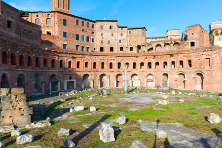 Forum and market of Trajan in Rome, Italy photo
