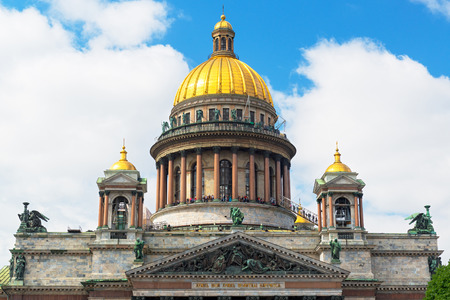 Saint Isaac`s Cathedral in Saint Petersburg, Russia photo
