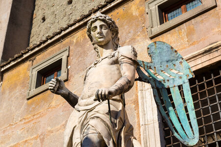 hadrian: Archangel Michael statue by Raffaello da Montelupo in Castel Sant Stock Photo