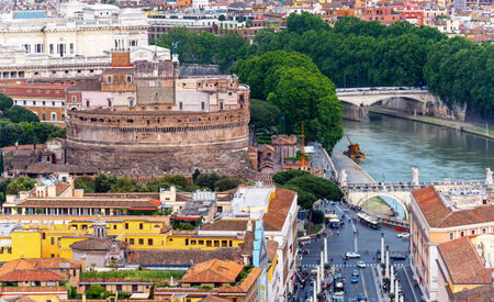 Castle of the Holy Angel (Castel Sant`Angelo) in Rome, Italy photo