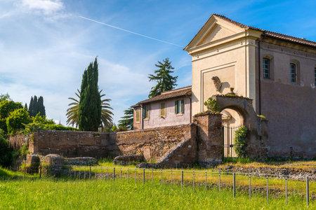 palatine: Vigna Barberini - ancient villa on the Palatine Hill in Rome, Italy Editorial