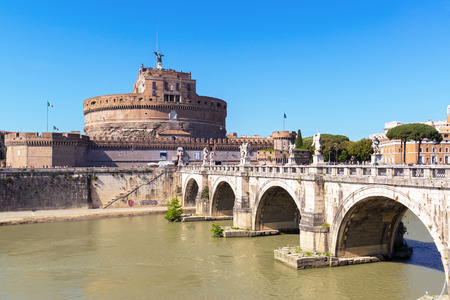 Castle of the Holy Angel (Castel Sant`Angelo) in Rome, Italy