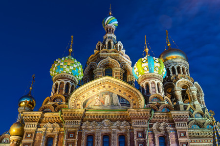 liberator: Church of the Savior on Spilled Blood (Cathedral of the Resurrection of Christ) in St. Petersburg, Russia. It is an architectural landmark of central city, and a unique monument to Alexander II the Liberator. Stock Photo