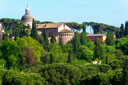 palatine: Cityscape near the Palatine Hill in the center of Rome, Italy