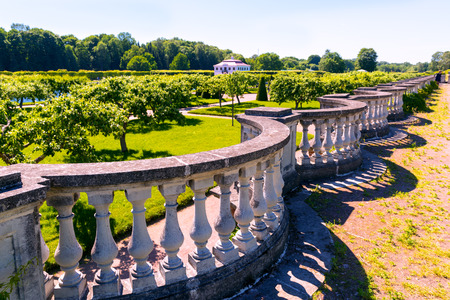 ST PETERSBURG, RUSSIA - JUNE 15, 2014: Garden in Peterhof Palace (Petrodvorets). The Peterhof Palace included in the UNESCO