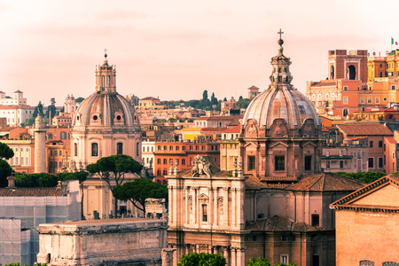 dome building: View of Rome, Italy
