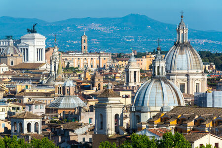 scenic view: View of Rome, Italy