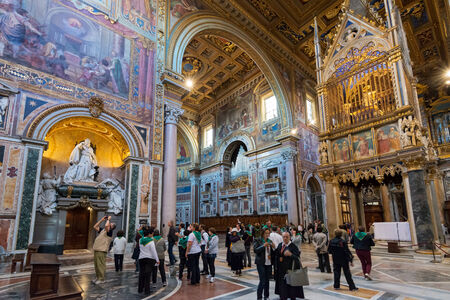roman catholic: ROME, ITALY - MAY 14, 2014: Interior of the Basilica di San Giovanni in Laterano (Papal Archbasilica of St. John Lateran)