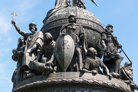 Monument to the Millennium of Russia in Veliky Novgorod (Novgorod the Great), Russia