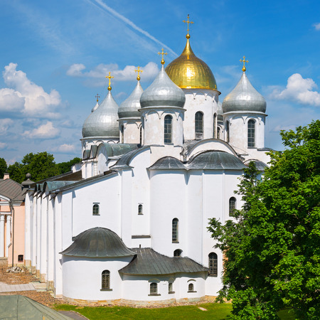The Cathedral of St. Sophia (the Holy Wisdom of God) in Veliky Novgorod (Novgorod the Great), Russia photo