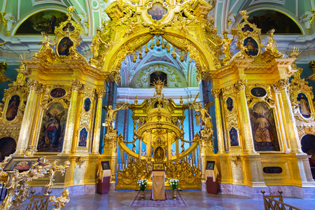 Interior of Peter and Paul Cathedral in St. Petersburg, Russia
