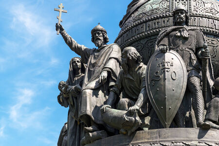 Detail of Monument to the Millennium of Russia in Veliky Novgorod (Novgorod the Great), Russia photo