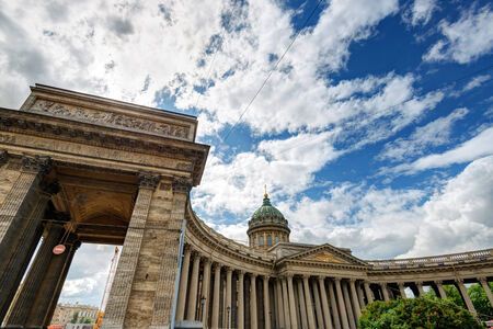 kazanskiy: Kazan Cathedral in Saint Petersburg, Russia Stock Photo