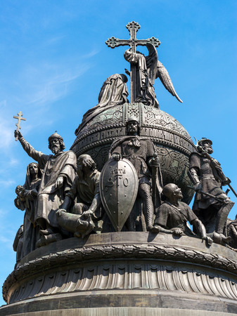 Monument to the Millennium of Russia in Veliky Novgorod (Novgorod the Great), Russia photo