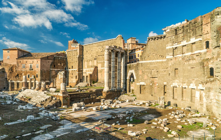 Forum of Augustus with the temple of Mars Ultor in Rome, Italy photo