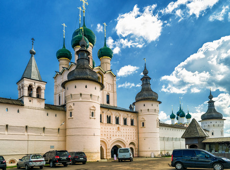 Kremlin of ancient town of Rostov The Great, Russia. Included in World Heritage list of UNESCO.