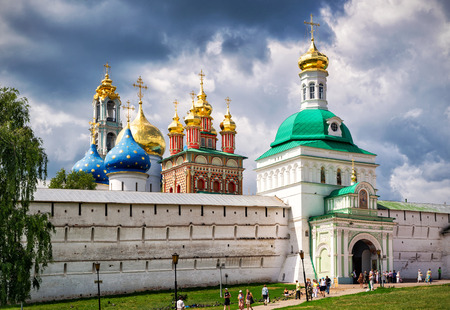 SERGIYEV POSAD, RUSSIA - JUNE 28, 2011: Trinity Sergius Lavra near Moscow. The Trinity Lavra is one of the greatest of Russian monasteries and is part of the Golden Ring of Russia.