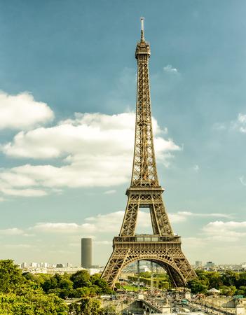 Paris skyline with Eiffel tower, France.  photo