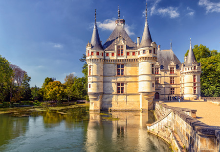 french renaissance: The chateau de Azay-le-Rideau, France. This castle is located in the Loire Valley, was built from 1515 to 1527, one of the earliest French Renaissance chateaux.
