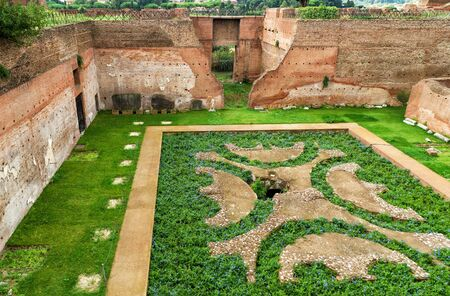 augustus: Ruins of House of Augustus at the Palatine Hill in Rome Italy