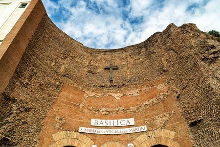 martiri: Basilica of St. Mary of the Angels and the Martyrs (Santa Maria degli Angeli e dei Martiri) in Rome, Italy