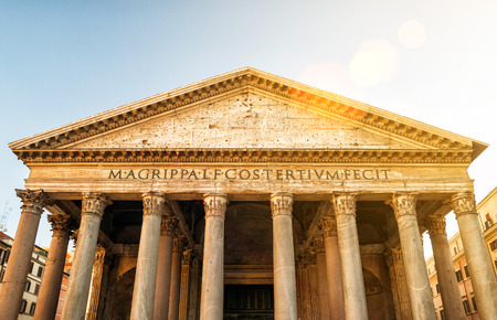2nd century: The Pantheon Rome Italy. Pantheon is a famous monument of ancient Roman culture the temple of all the gods built in the 2nd century.