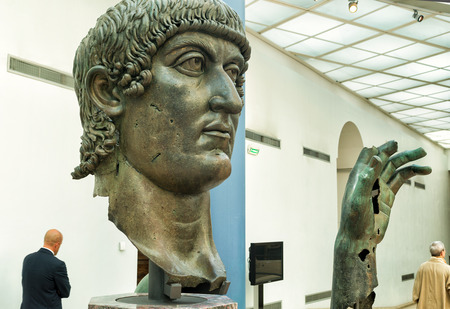 constantine: Fragments of a bronze statue of Constantine the Great in the Capitoline Museum Rome