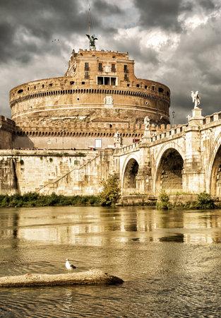 castel: Castel SantAngelo, Rome Editorial
