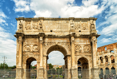 constantine: Antique arch of Constantine near Coliseum, Rome, Italy