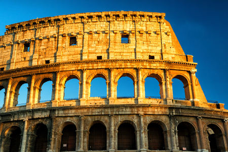 vibrance: Colosseum (Coliseum) at sunset, Rome, Italy