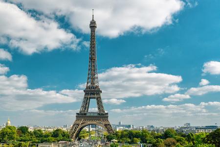 eiffel: Paris skyline with the Eiffel tower, France