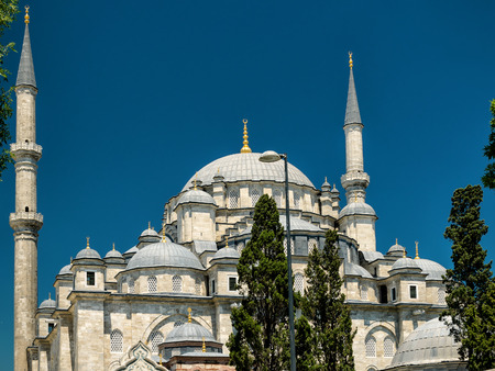 fatih: The Fatih Mosque (Conquerors Mosque) in Istanbul, Turkey Stock Photo