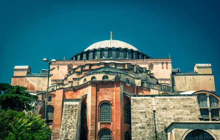 byzantine: Hagia Sophia in Istanbul, Turkey. Basilica of Hagia Sophia is the greatest monument of Byzantine Culture.