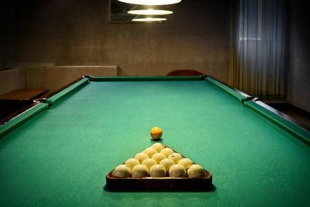 snooker rooms: Russian pyramid billiards