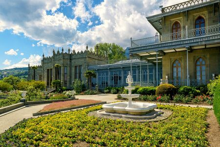 alupka: Vorontsov Palace in the town of Alupka, Crimea, Russia Editorial