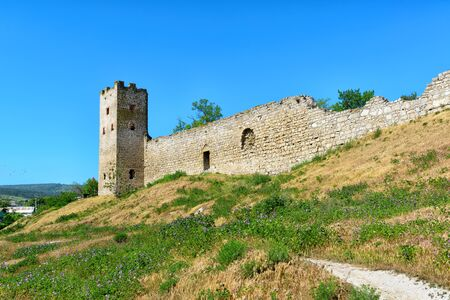 genoese: Ancient Genoese fortress in the city of Feodosia, Crimea, Russia Stock Photo