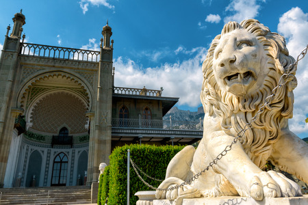 vorontsov: Vorontsov Palace in the town of Alupka, Crimea, Russia Editorial