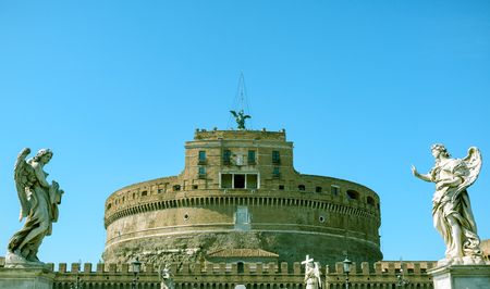 Castel SantAngelo (Castle of Holy Angel) in Rome, Italy