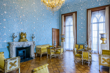 vorontsov: ALUPKA, RUSSIA - MAY 20, 2016: Inside the Vorontsov Palace in the town of Alupka, Crimea. This palace is a tourist attraction of the Crimea.