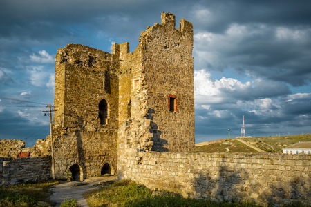 genoese: The ruins of Genoese fortress in the city of Feodosia, Crimea, Russia