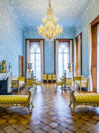 alupka: ALUPKA, RUSSIA - MAY 20, 2016: Inside the Vorontsov Palace in the town of Alupka, Crimea. This palace is a tourist attraction of the Crimea.