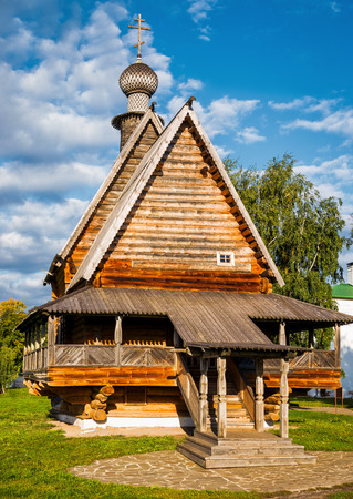 Wooden Church of Saint Nicholas in Kremlin of Suzdal (Golden Ring of Russia) Stock Photo