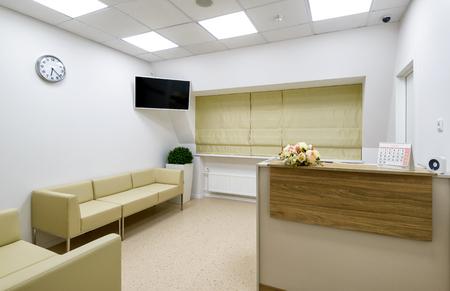 Recepción de clínica u oficina
