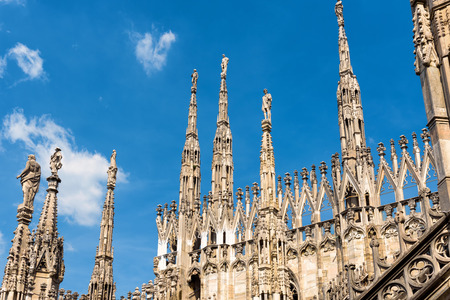 milánó: The roof of the Milan Cathedral (Duomo di Milano) in Milan, Italy. Milan Duomo is the largest church in Italy and the fifth largest in the world.