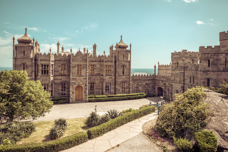 vorontsov: Alupka, Russia - May 20, 2016: Vorontsov Palace in Crimea. This palace is a tourist attraction of Crimea. Editorial