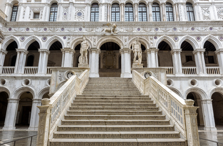 Doge`s Palace, or Palazzo Ducale, in Venice, Italy.  Dode`s Palace is one of the main tourist destination in Venice.